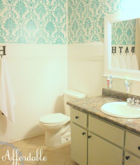 affordable diy bathroom redo lollyjane.com