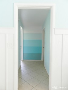 aqua turquoise ombre accent wall lollyjane.com