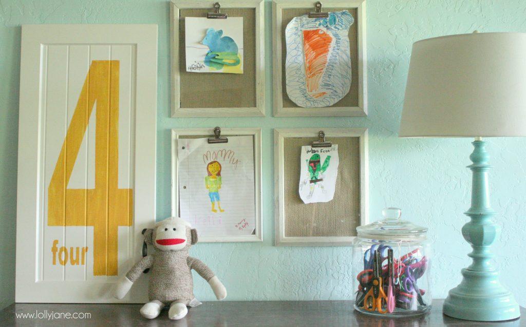 childrens art display