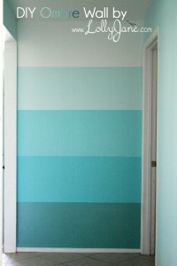 ombre accent wall lollyjane.com