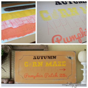DIY Autumn Sign by LollyJane