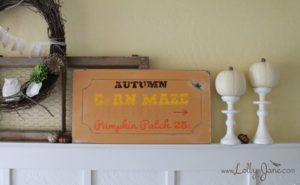 DIY Autumn Sign by www.LollyJane