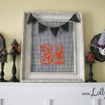 LollyJane halloween Mr. and Mrs. Skull plaques