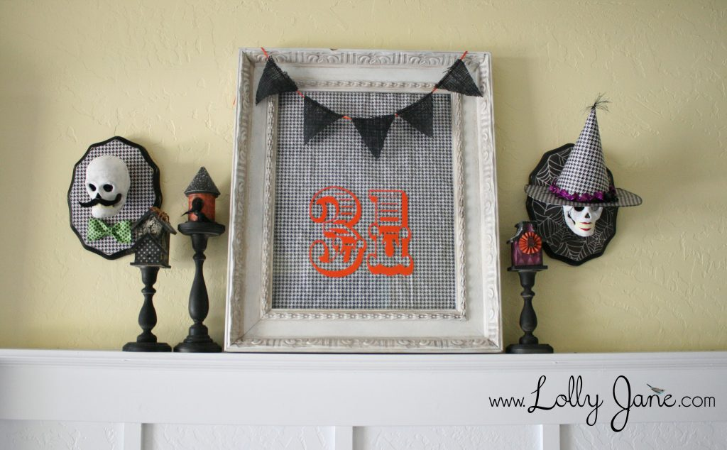 Skull Plaques | Halloween craft