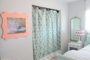 coral tween girl bedroom lollyjane (10)