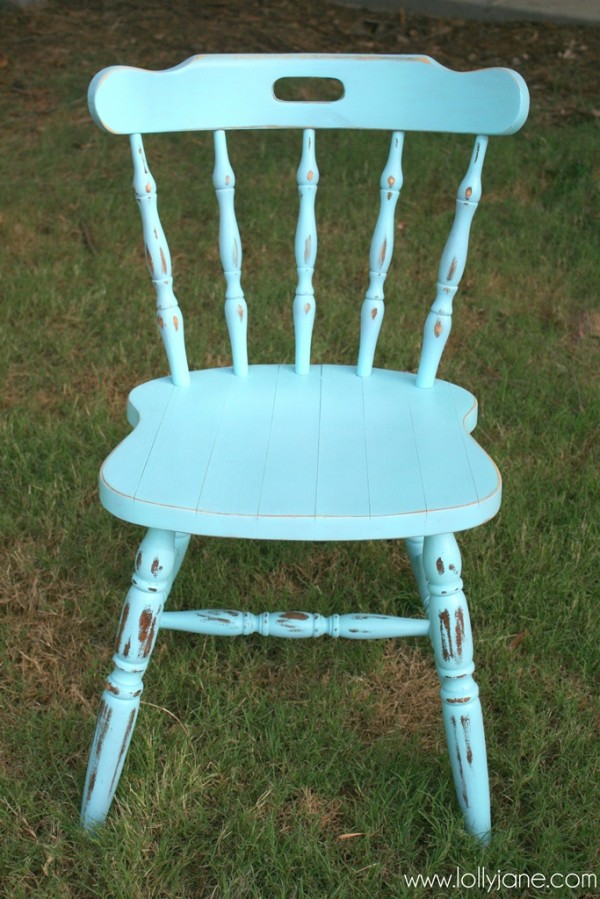 How To Distress Furniture With Spray Paint And A Sander on hand painted chairs