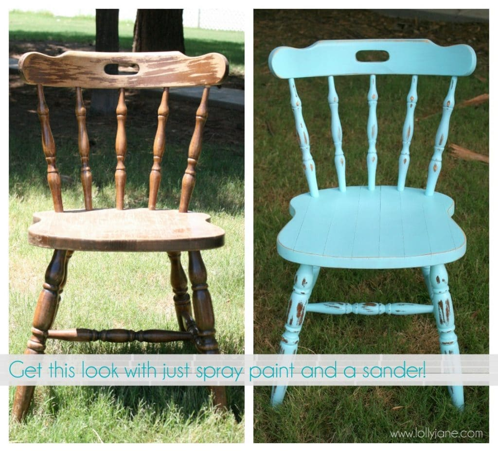 How to distress furniture with spray paint and a sander How to spray paint wood furniture