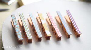 Paper clothespins