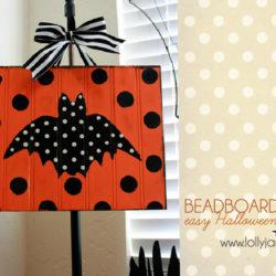 Beadboard bat | easy Halloween decor