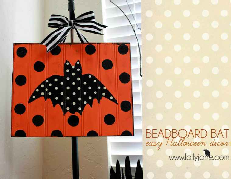Beadboard bat | easy Halloween decor
