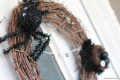 halloween spider egg wreath lollyjane.com