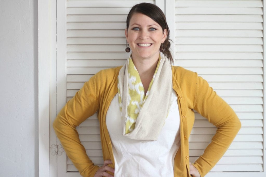 Placemat infinity scarf | tutorial