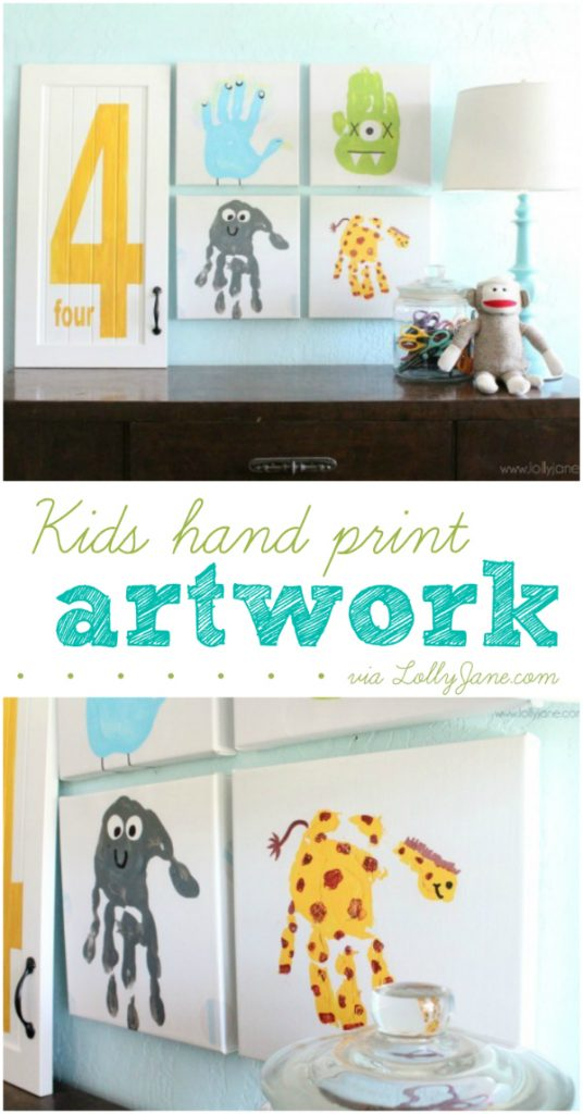 Luxury Easy kids hand print artwork great idea to preserve their cute hand prints for years