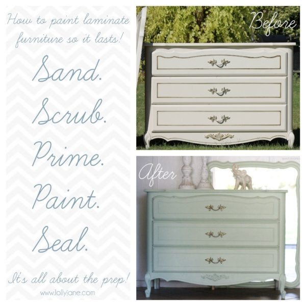 how to paint laminate furniture shabby chic online information. Black Bedroom Furniture Sets. Home Design Ideas
