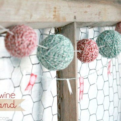 bakers twine garland | tutorial