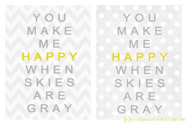 Free You are My Sunshine printable #freeprintable #sunshine