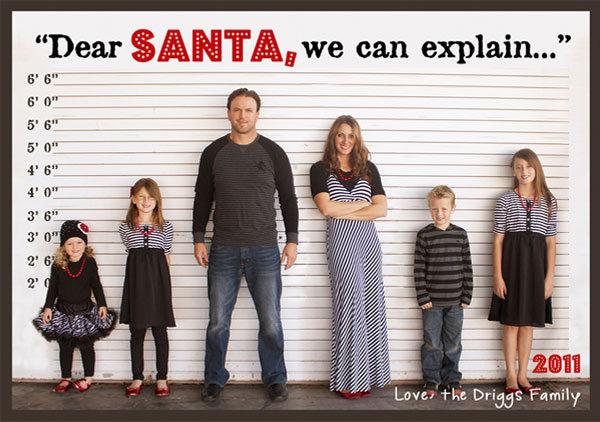 dear santa we can explain christmas card
