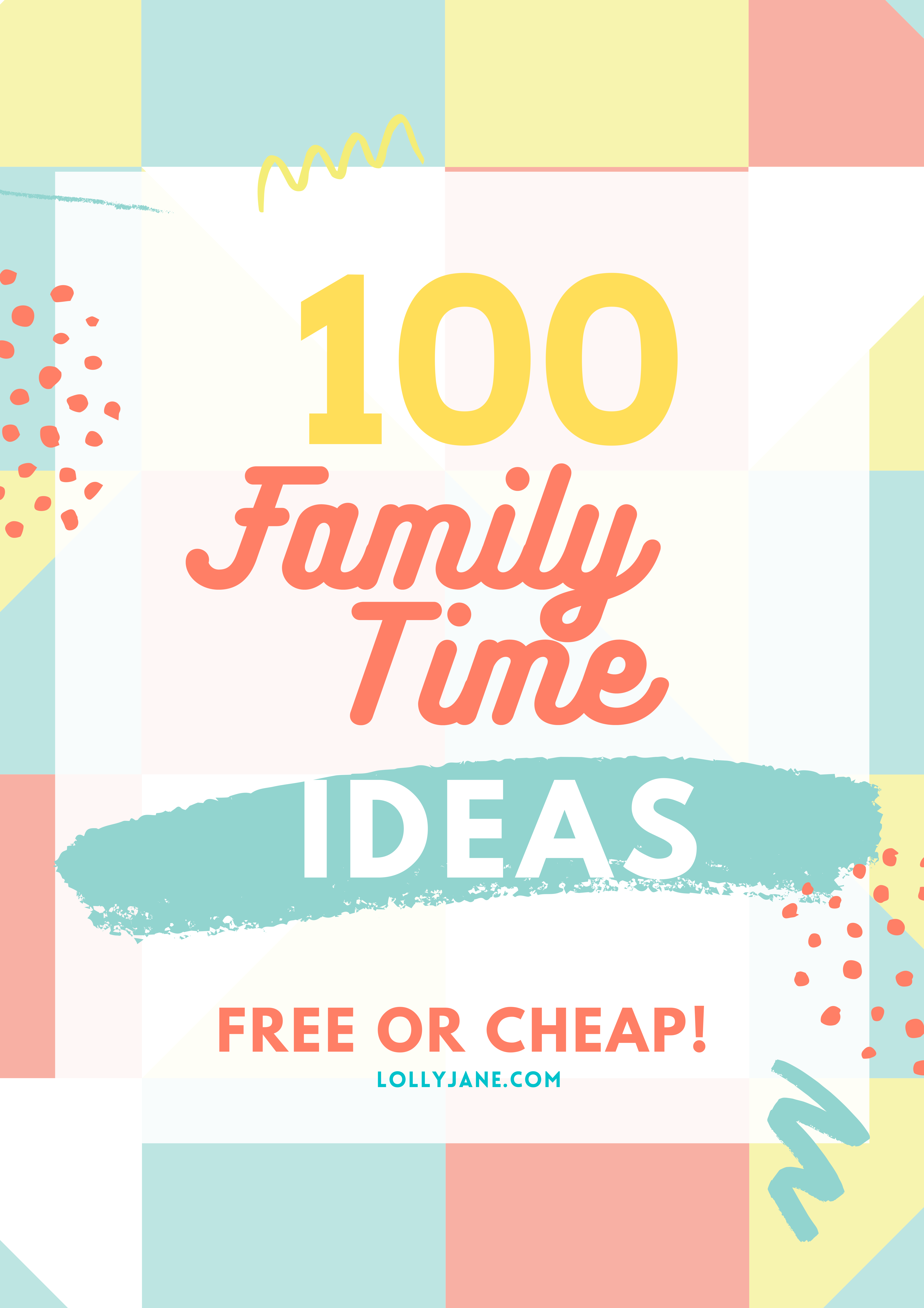 100 FREE (or cheap!) Family Activity Ideas to keep your family busy! #family #familytime #boredombuster