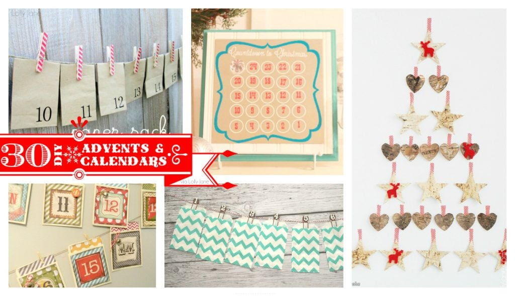 35 cute DIY Christmas advents and calendars