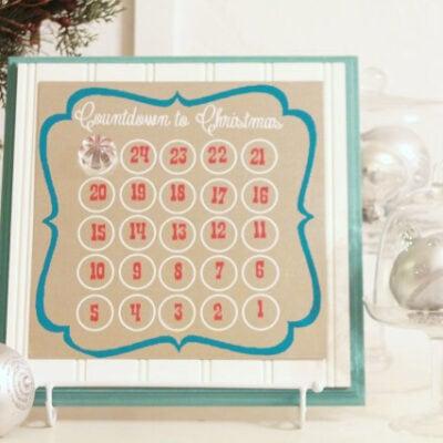 Christmas Countdown Magnet Calendar