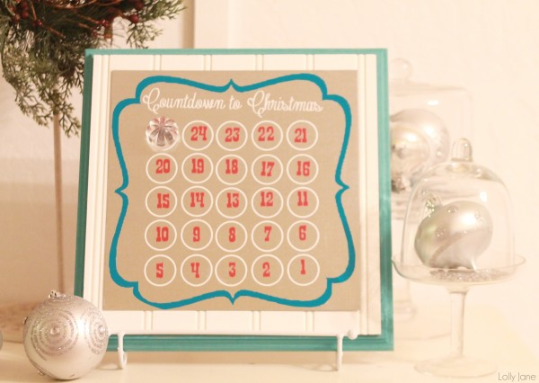vinyl calendar template - 30 diy christmas advent calendars