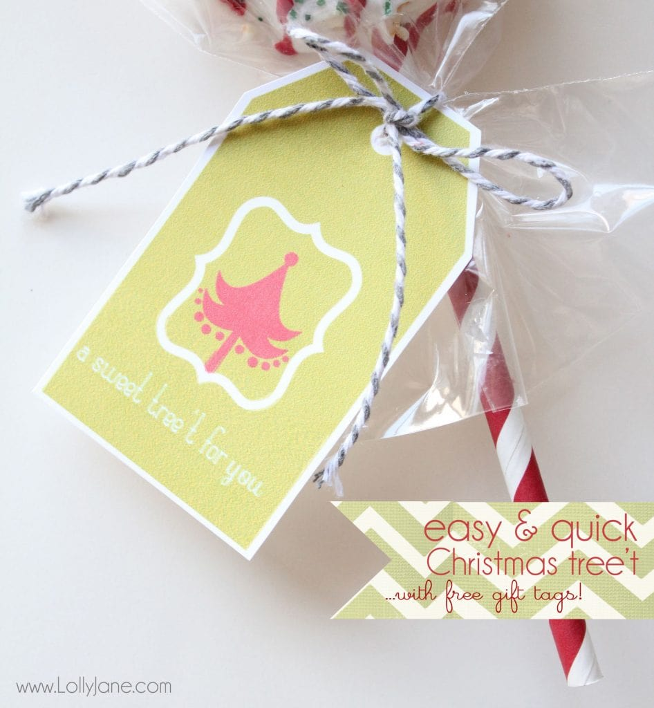 Easy Christmas tree treat | Free gift tags