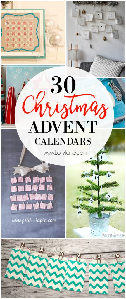30 advent calendar ideas! Lots of fun and easy Christmas countdown ideas!