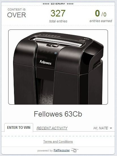 fellowes shredded giveaway lolly jane
