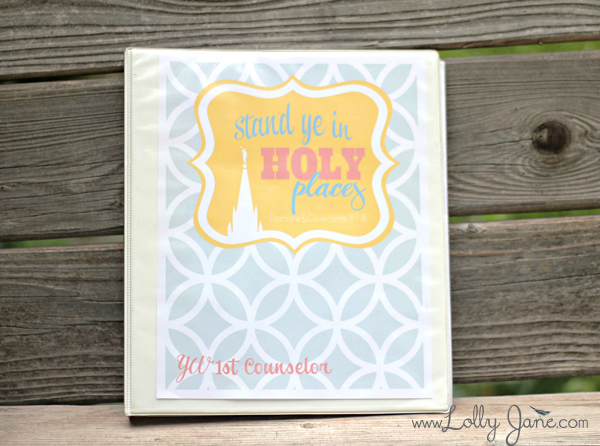 2013 YW Binder Cover | Lolly Jane
