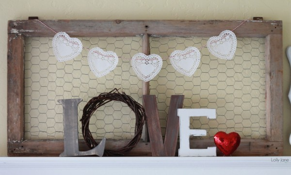 Heart Doily Bakers Twine Bunting via Lolly Jane4