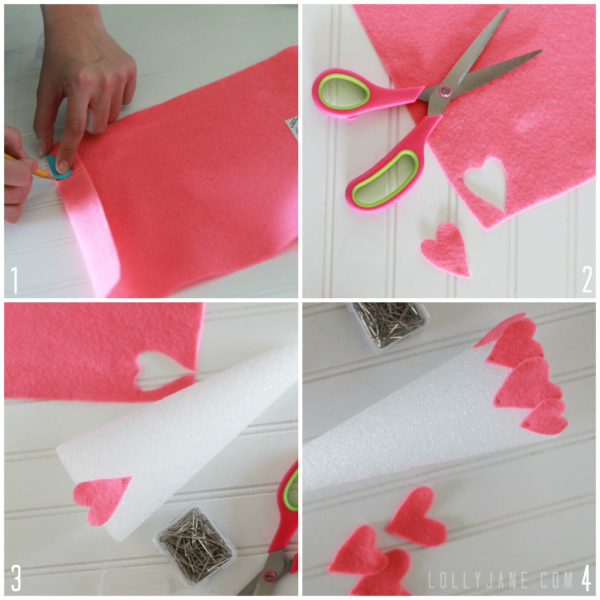 Heart felt Valentine Trees by Lolly Jane #valentinesdaydecor
