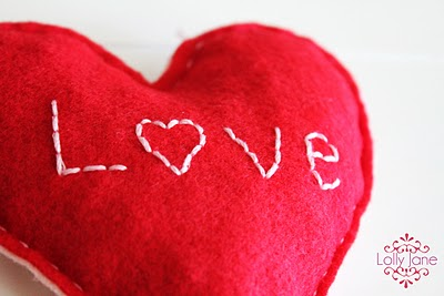 Bursting with LOVE felt heart | Lolly Jane