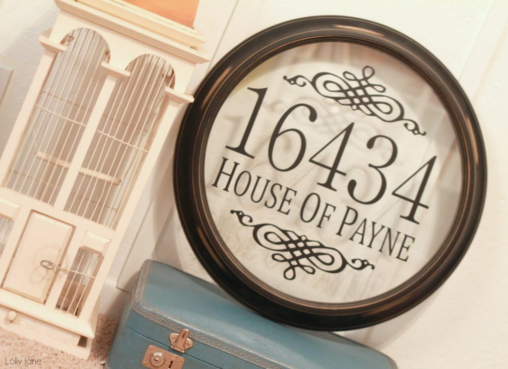 diy address sign via lollyjane.com #DIY #upcycle