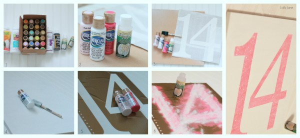 easy Valentines day glitter sign  #valentinesday #homedecor