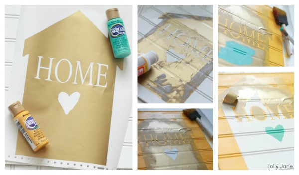 home sign decor howto via lollyjane.com