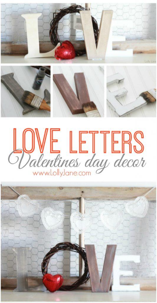 Mantel decor letters