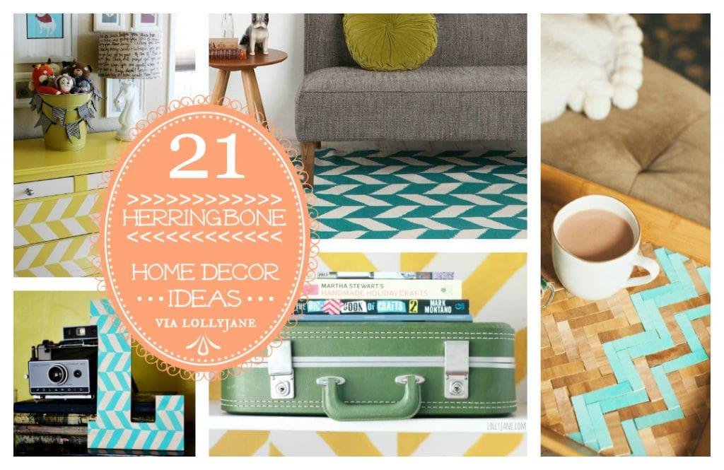 21 herringbone home decor ideas