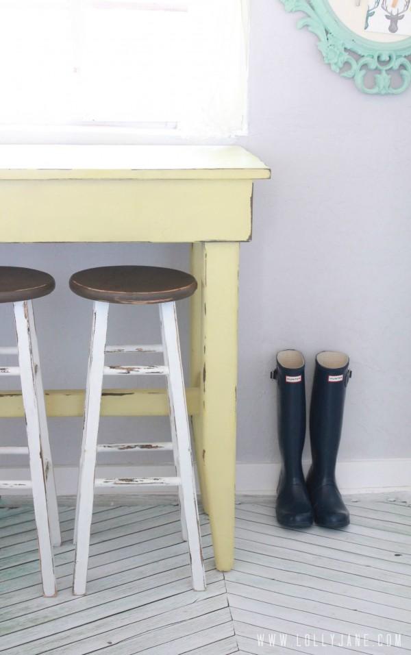 Furniture makeover kitchen barstools