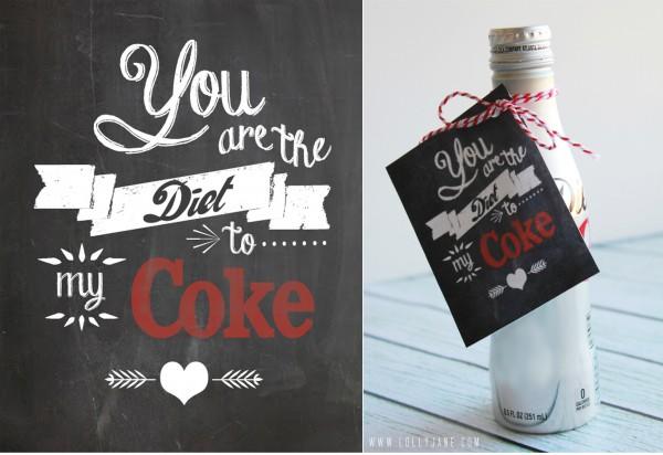 Diet Coke printable by Lolly Jane