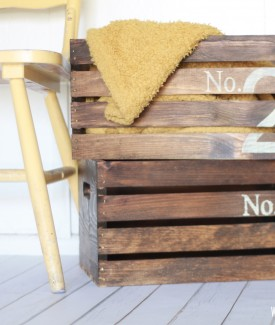 How to create vintage numbered crates by Lolly Jane