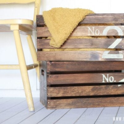 Vintage numbered crates