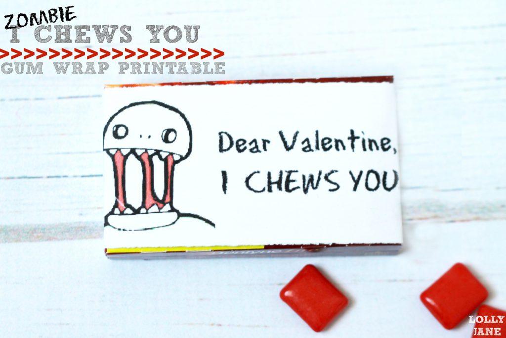 I Chews You zombie valentine