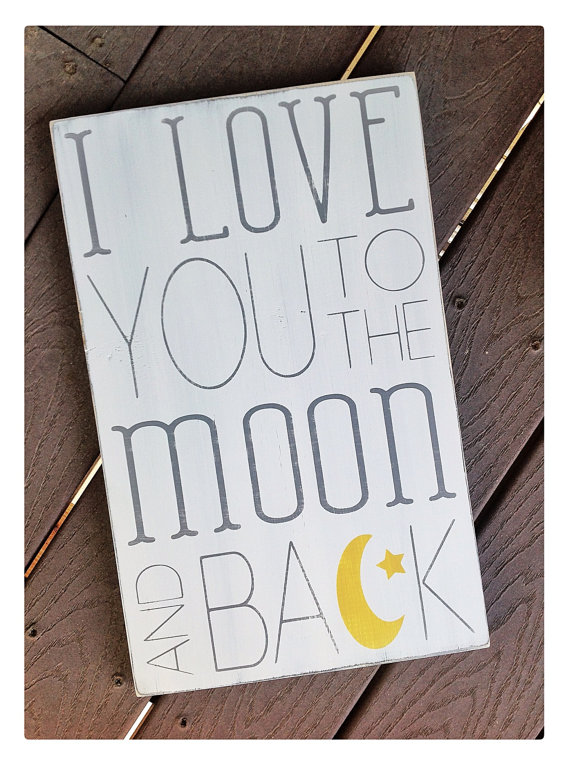 I love you to the Moon and Back | Word Whipped