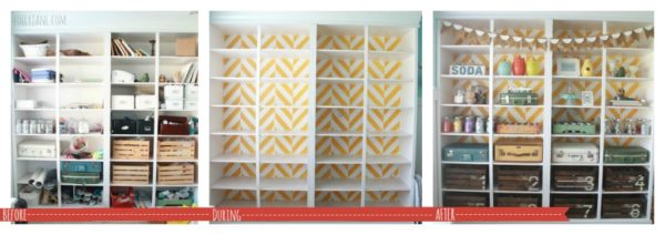 herringbone-bookcase-before-after
