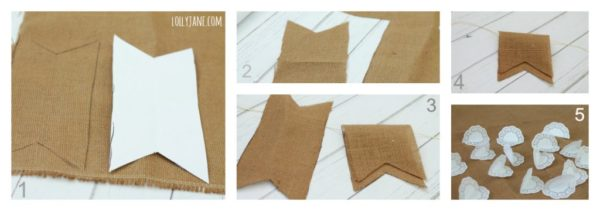 Instructions to make a burlap doily bunting, cheap and easy! #bunting