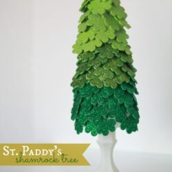 St. Patricks Day shamrock tree