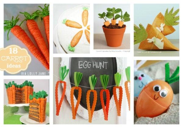 carrot decor and treat ideas #easterdecor #springideas