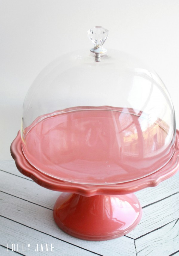 Crystal Cake Stands With Dome