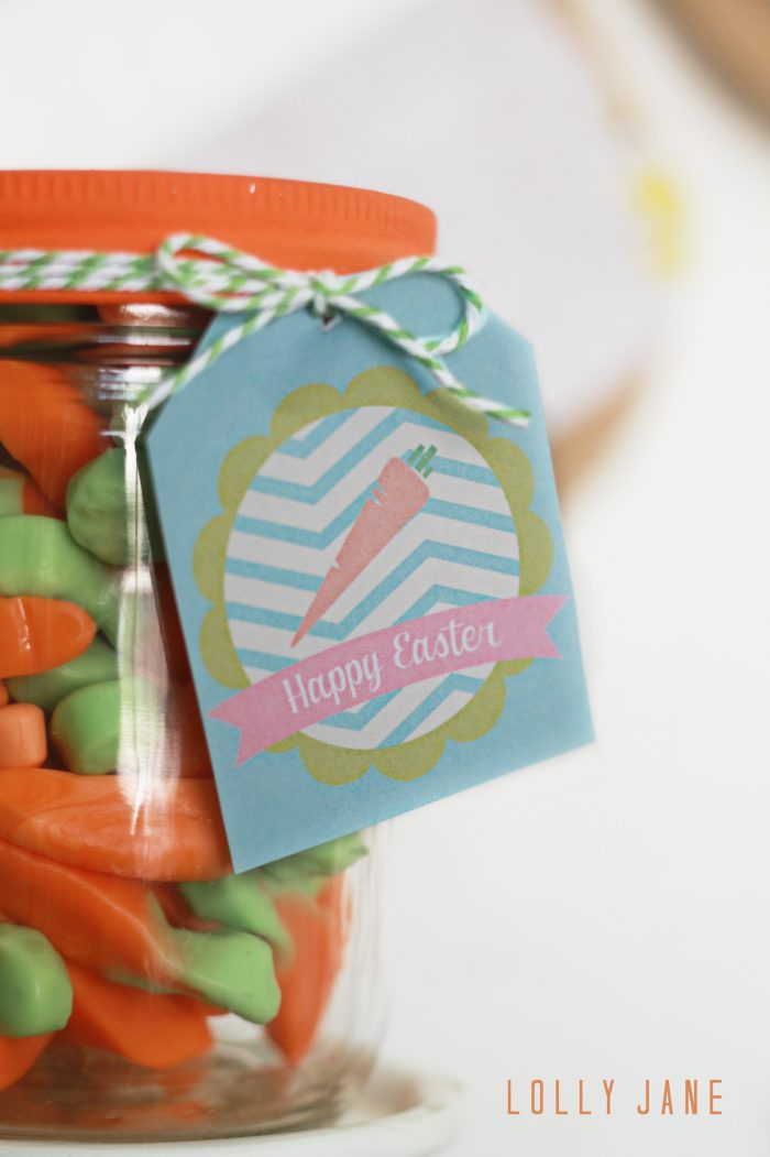FREE Carrot Easter Printable Tags by LollyJane.com