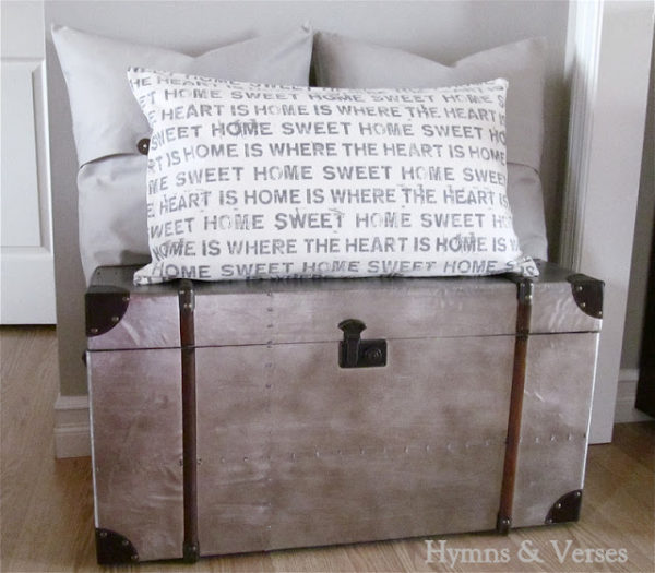 Aged Metal Chest   Hymns & Verses